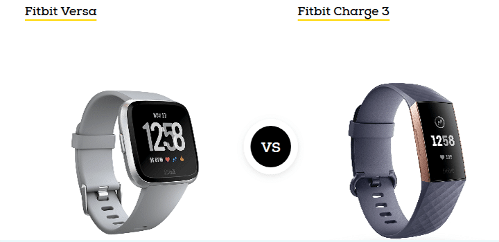 fitbit charge 3 vs versa 2