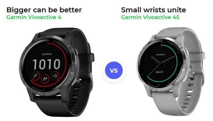 Garmin Vivoactive 4 vs 4s